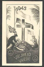 1945* PPC HOLLAND WW2 ENDS HOPE FOR PEACE & FREEDOM