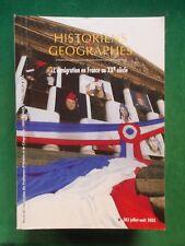 HISTORIENS & GEOGRAPHES N383 ETE 2003 L'IMMIGRATION EN FRANCE AU XXE 1ERE PARTIE