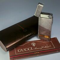 Vintage Gucci Silver Lighter IC Sensor WITH BOX for parts repair restore ITALY