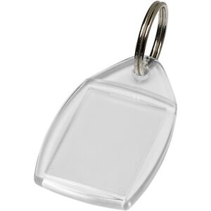 Photo Insert Key Rings - P5 clear acrylic fobs - Made in the UK, 35x24mm inserts