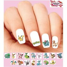 Waterslide Nail Decals Set of 20 - Pokemon Assorted