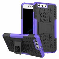 HYBRID ARMOR HARD KICKSTAND RUGGED HEAVY DUTY DEFENDER CASE COVER HUAWEI + GLASS