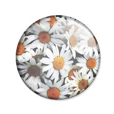 Badge FLORAL PÂQUERETTES retro bohème boho fleuri vintage flowers pop pin Ø25mm