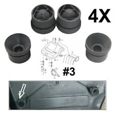 4Pcs Engine Cover Grommet Rubber BUFFER Mounting for VW Skoda 06A 103 226 Black
