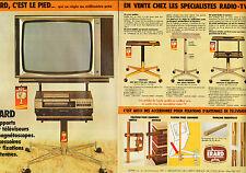 Publicité 1981 ( Double page )  ERARD support pour télévision et magnétoscope