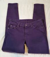Seven 7 For All Mankind sz 31The Ankle Skinny Jeans Womens Denim purple