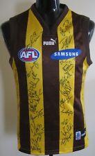 AFL 2001 Puma Hawthorn Hawks Team Signed Guernsey Jumper Jersey Medium