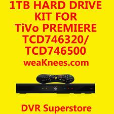 1TB TIVO HARD DRIVE UPGRADE/REPAIR KIT FOR TCD746320 SERIES4 PREMIERE - 6 MO WAR