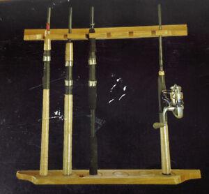 Rush Creek Creations 6 Fishing Rod Rack Wall Holder