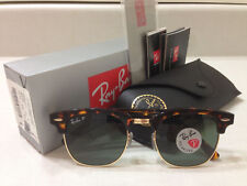 Ray Ban Clubmaster Sunglasses POLARIZED Green Lens Tortoise Havana Frame 51MM