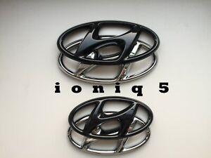 Hyundai ioniq 5 Emblem Cover hochglanz–schwarz blacked out Badge
