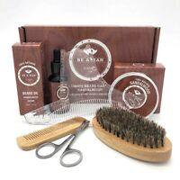 6Pcs/set Beard Care Comb Beard Balm Beard Oil Brush Grooming Styling Tool