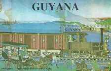 Timbre Trains Guyana BF22 ** lot 20982