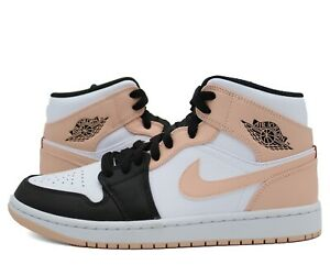 Nike Air Jordan 1 Mid Arctic Orange Black Toe Crimson Tint 554724-133 Mens/GS