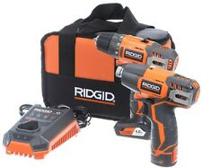 RIDGID Drill Driver Impact Driver Combo Kit 12-Volt (Includes Battery Charger)