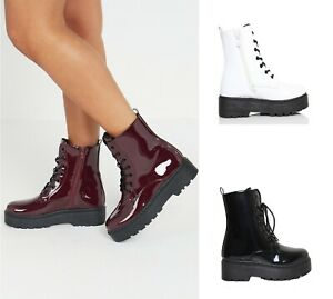 New Womens Chunky Block Mid Heel Zip up Fleece Lined Ankle Ladies Boots Shoes
