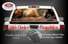 Military Honor Vets Flag Reaper Rear Window Graphic Decal Sticker Truck Car SUV