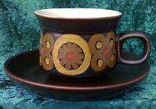 Vintage Retro Denby Arabesque Tea Coffee Cup Saucer Waisted Gill Pemberton  60s