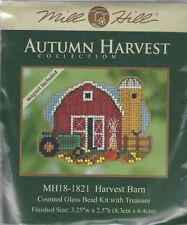 Harvest Barn Counted Cross Stitch Glass Bead Mill Hill