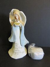 2004 Enesco Foundations Lighted Angel/ Crown Figurine-New In Box