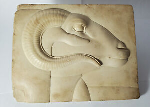 Vintage MET Egyptian Reproduction Relief of Ram-Headed Divinity