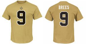 NFL T-Shirt New Orleans Saints Drew Brees 9 Gold ER3 Receiver Jersey