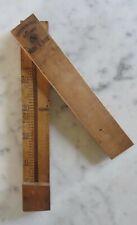 Ancien thermomètre Réaumur en bois pour vers à soie - couvercle pivotant