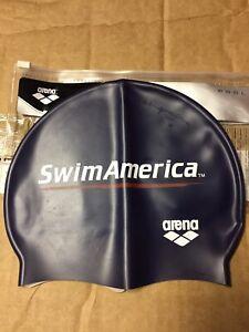 Arena Silicone Swim Cap Navy Blue Swim America New