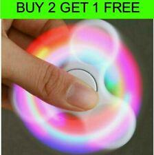 LED GLOW Fidget Finger Spinner Hand Spinner Bearing Stress Toys Glow in the Dark