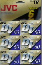 Jvc Dv 60 Digital Video Cassette - Lp Mode 90 Mins - 6 pack New Free Shipping