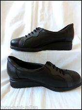 Equity Gaby * Damas Negro Cuero Con Cordones Zapatos Uk 5 * 1/2 * * Ultra Wide Fit 4E's