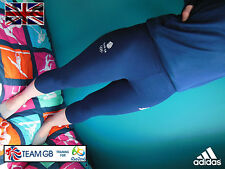 ADIDAS TEAM GB ISSUE- TRAINING FOR RIO  2016 - ATHLETE NAVY BLUE 3/4 LEGGINGS