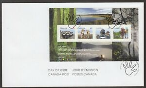 Canada 2012 FDC MS Young Wildlife