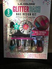 L. A. COLORS  - Glitter Bash Nail Design Kit - 9 Piece