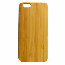 Bamboo Case for iPhone 7 Plus Cover Eco-Friendly Plain Wood Grain Natural Basic