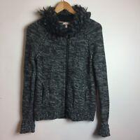 Victoria's Secret Womens Size XS Black Gray Knit Acrylic Wool Blend Sweater