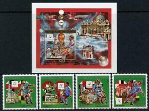 Guinea: 1990 World Cup Soccer Set and Souvenir Sheet (1130-1134) MNH