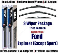 3pk Wipers Front/Rear NeoForm 2002-03 Ford Explorer (Except Sport) 16220x2/30160