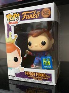 Funko POP! Freddy Funko as Bloody Chucky LE3000 SDCC Fundays 2019 w Protector