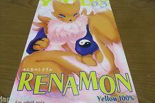Digimon anthology Doujinshi Minnano Renamon Yellow 100% (B5 116pages)