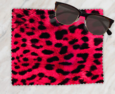 Leopard Print Sunglasses Reading Lens Mobile Phone Microfiber Cleaning Cloth