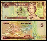 Fiji 5 $  Dollars Banknote, ND(2002), P-105a, UNC, QE II ,Australia Paper Money