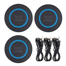 3Pcs/Lot Dock QI Wireless Charger Charging Pad w/Cable For iPhone X XR XS Max 8+