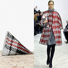 runway CELINE PHILO AW13 Berlingot red white blue stitch leather zip clutch bag