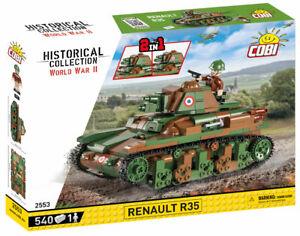 Cobi 2553 - Renault R35 Tank 2in1 (480pcs) Building Blocks - WWII