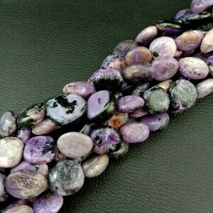 "Natural Purple Charoite Beads Rounded Pebble Oval Nuggets Gemstone 16"" Strand"