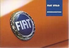 FIAT STILO Betriebsanleitung 2002 Bedienungsanleitung Handbuch Bordbuch BA