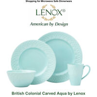 Lenox British Colonial Carved Aqua 4 PC place Setting (NEW IN BOX)