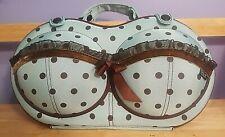 Brag Company Bra Bags - THE BRA TRAVEL BAG - Turquoise W/ Lace & Polka Dots