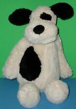"""Bashful JellyCat Stuffed Velvety Cream Black Spots Floppy Puppy Dog Large 16"""""""